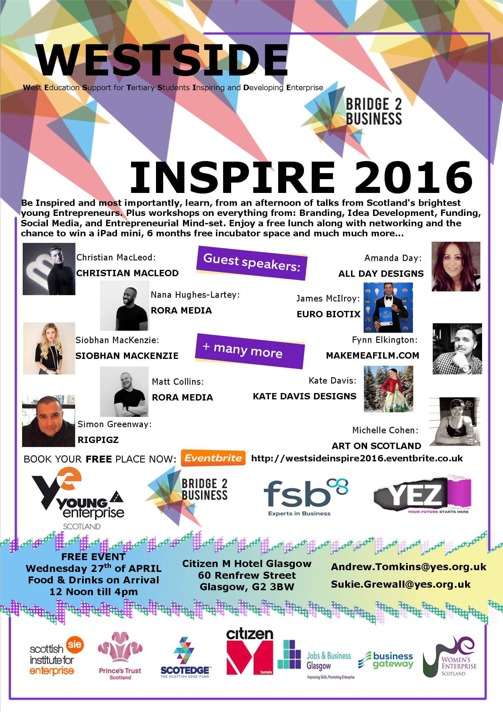 Inspire 2016 West College Scotland Bridge 2 Bridge Business Cat Paterson Straight Talking Ginger